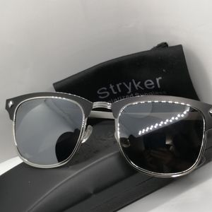 New Stryker Polarized Sunglass ST06217 Black Mirro